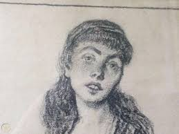 Francis Luis Mora Pencil on Paper Effie Ferguson 1916 | #1877583414