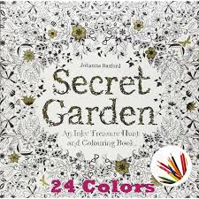 secret garden an inky treasure hunt and coloring book for children relieve stress kill time graffiti painting drawing book