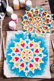 Mandala painting isn't difficult using freezer paper to make stencils. This  technique allows