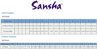 Sansha Dance Shoes Size Chart Sizing Charts
