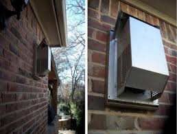 another direct vent termination outside a house
