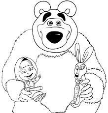 Disegno Da Colorare Di Masha Orso E Coniglio
