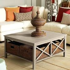 coffee table with baskets medium size of tables drawers black wicker