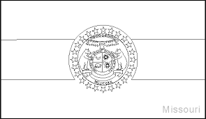 Small Picture Missouri State Flag Coloring Pages USA for Kids