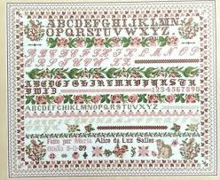 French Cross Stitch Charts Cross Stitch Chart Beautiful French Sampler Reproduction