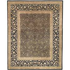 handmade safavieh couture florence zebra beige black wool area rug 9 x 12