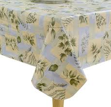 com elrene home fashions 37706mlt leaf melody outdoor flannel back vinyl bbq umbrella tablecloth multicolor 70 round home kitchen