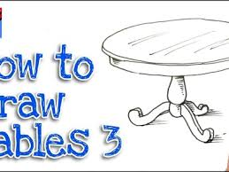 how to draw a round dining table real easy step by step 3