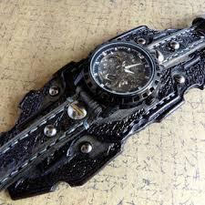 skeleton leather watch steampunk watch cuff men s watch le