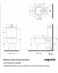 Standard Toilet Dimensions Inches Photo Standard Toilet Bowl