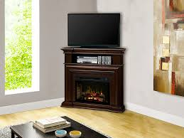 montgomery corner electric fireplace media console in espresso with logs gds25hl 1057e