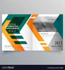 Creative Brochure Design Vector Free Download Creative Geometric Bi Fold Brochure Design