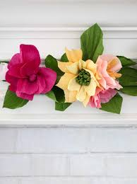 How To Make Flower Using Crepe Paper Make A Crepe Paper Flower Garland A Beautiful Mess