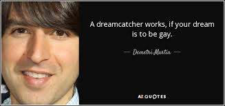 Dream Catcher Works Extraordinary Demetri Martin Quote A Dreamcatcher Works If Your Dream Is To Be Gay