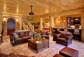 log home interiors. high peaks log homes, great room, barth home interiors