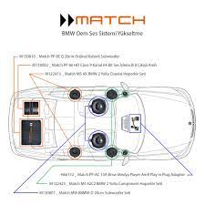 Match BMW Play in Plug Hi-Fi Ses Sistem Paketi + Subwoofer