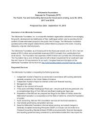 File Rfp For Audit Tax And Consulting Services For Fiscal Years