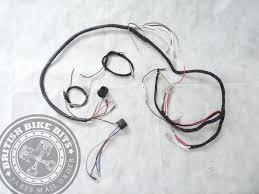 cloth wiring harness triumph 3ta 5ta 6t 1966 triumph thunderbird speedtwin 1966 wiring loom