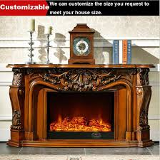 solid wood tv stand with fireplace. Webetop Fireplaces Decoration TV Cabinet Simulation Flame Solid Wood Base Europe Fireplace Mantel With Electric In Tv Stand