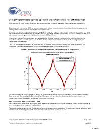 Emi Emc Standards For Pcb Design Using Programmable Spread Spectrum Clock Generators For Emi