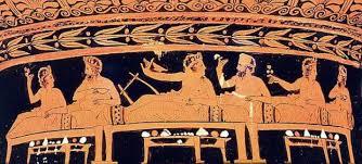 Αποτέλεσμα εικόνας για αρχαίο δείπνο φωτο