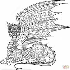 Dragon Coloring Pages Easy Printable Coloring Page For Kids