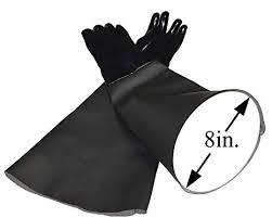 image unavailable image not available for color tuff blast neoprene gloves for sandblasting sandblaster sand blast cabinet