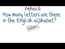how many letters are there in the english alphabet
