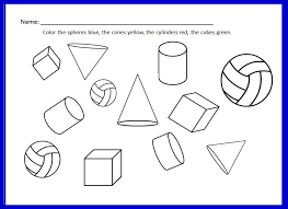 Worksheet for learning about 3D shapes. Part of the Shapes 2D and ...