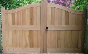 curved top timber dressed gates