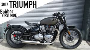 2017 triumph bobber first ride youtube