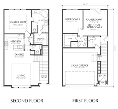 2 story townhouse floor plan for