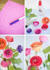 Как сделать простые цветы из бумаги