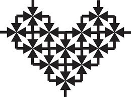 symmetrical background design vector graphic