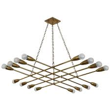 large brass chandelier by rupert nikoll for