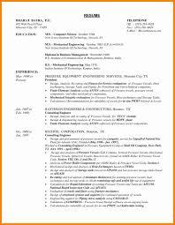 Sample Resume Mechanical Engineer Philippines Best Engineering
