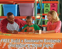 free build a bookworm bookends work for kids at on august 4th