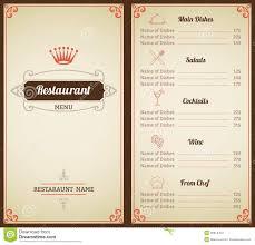 Drinks Menu Template Restaurant Menu Template Stock Vector Illustration Of Creative 13