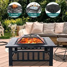 backyard patio garden stove fire pit