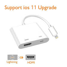 lightning digital av adapter lighting to hdmi adapter compatible iphone ipad and