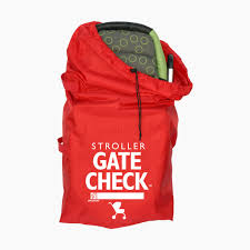 Jl Childress Gate Check Bag For Standard Double Strollers Red