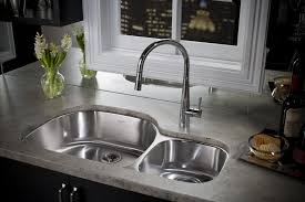 captivating undermount kitchen sinks ceramics sinks with 1 5 sink bowls and high faucet and