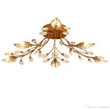 Großhandel Eisenkristall Decken Kronleuchter E14 K9 Kristall Deckenlampe Schwarz Bronze Decken Kronleuchter Wohnkultur Amerikanischen Landhausstil
