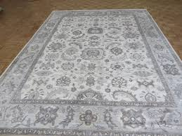 9 2 x 12 handmade ivory blue turkish bamboo silk oushak oriental rug traditional area rugs by oriental rug galaxy