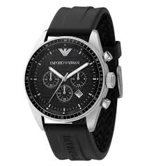 armani ar0527 men s black rubber strap chronograph black dial armani ar0527 men s black rubber strap chronograph black dial quartz watch