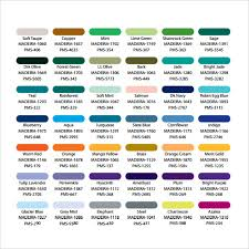 Sample Color Chart Template 25 Free Documents In Pdf Word