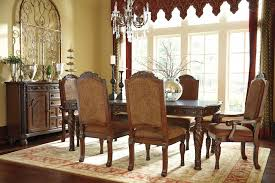 north s rect dining room ext table 4 uph side chairs 2 uph arm