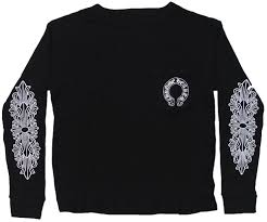 Chrome Hearts Thermal T Shirt Horseshoe Floral Cross Chrome Hertz Men Long Thermal T Shirt