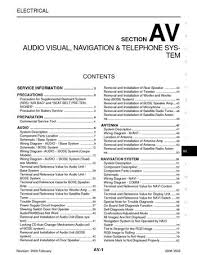 nissan z audio visual system section av pdf manual 2008 nissan 350z audio visual system section av 103 pages