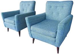 pair of mid century modern american club chairs